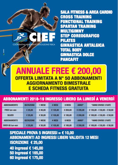 Prezzi e Promo Palafitness Magenta 2018 -2019